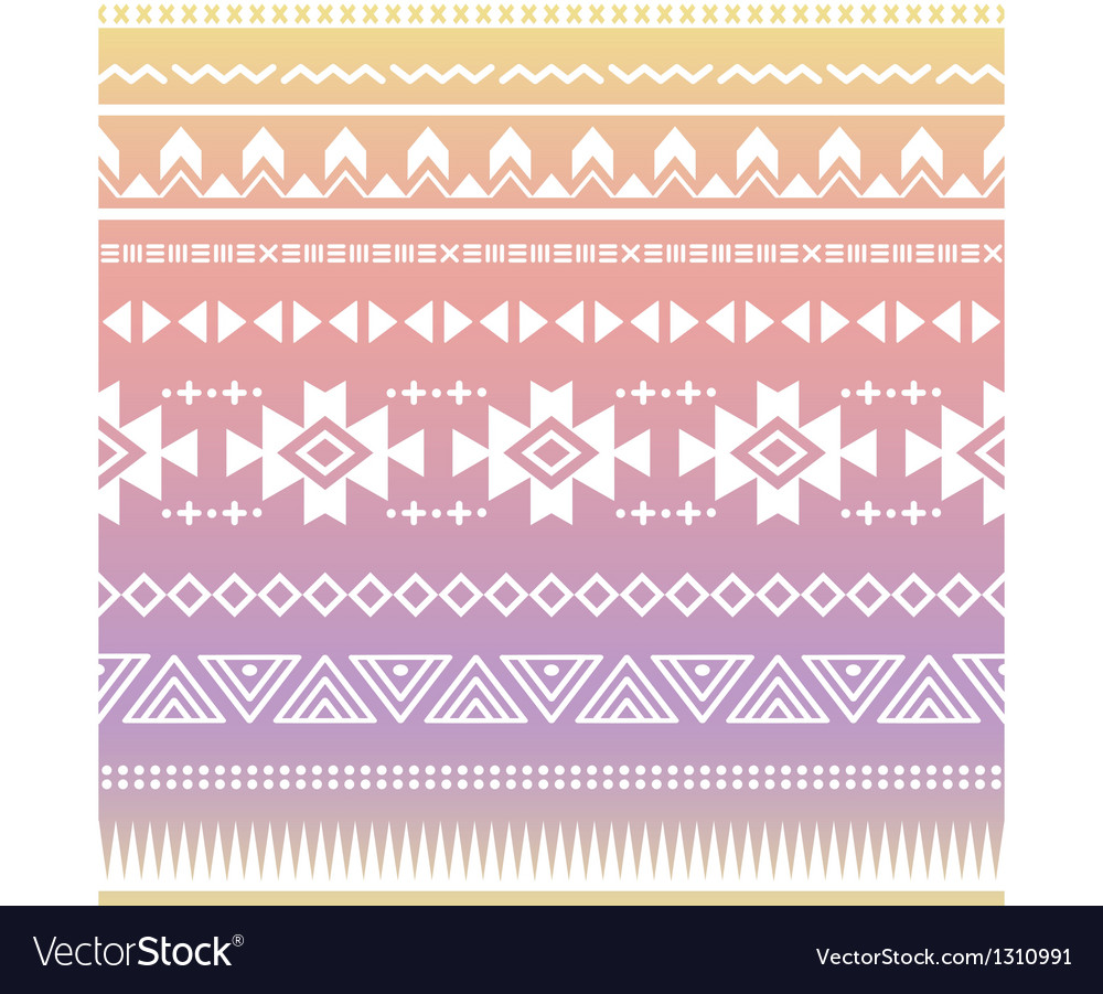 Tribal aztec ombre seamless pattern vector | Price: 1 Credit (USD $1)