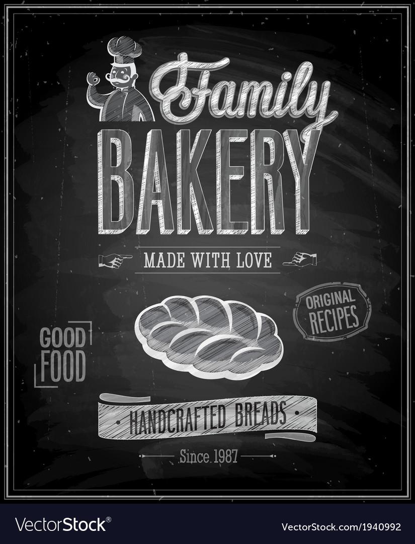Bakery chalk vector | Price: 1 Credit (USD $1)