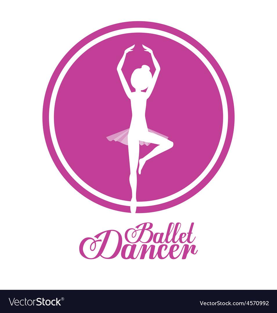 Ballet dance design vector | Price: 1 Credit (USD $1)
