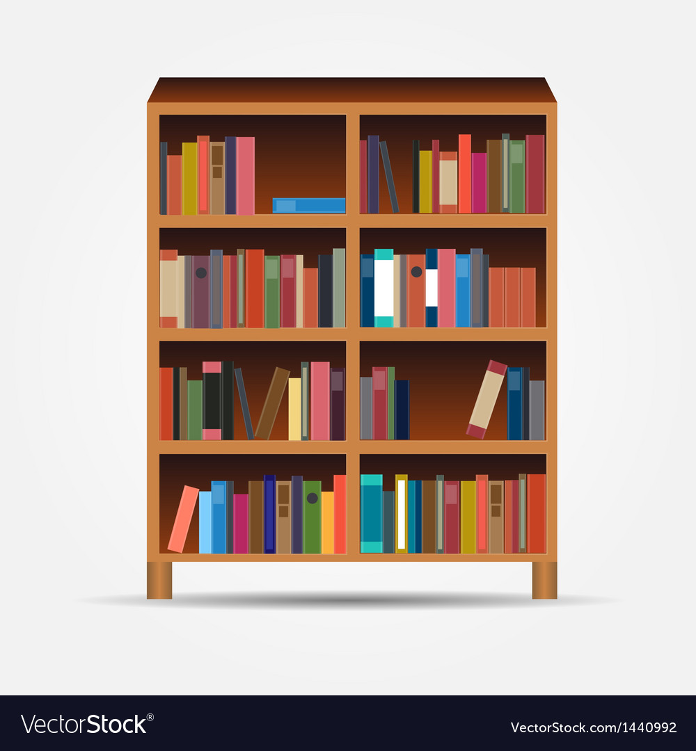 Bookcase icon vector | Price: 1 Credit (USD $1)