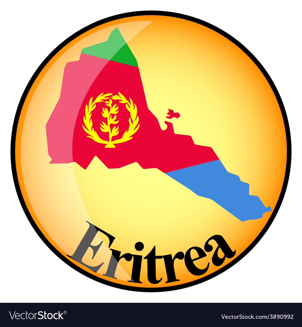 Button eritrea vector | Price: 1 Credit (USD $1)