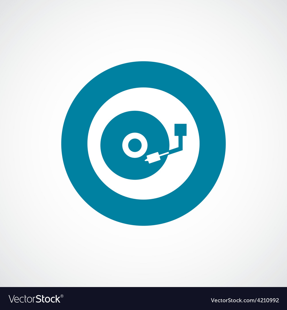 Dj icon bold blue circle border vector | Price: 1 Credit (USD $1)