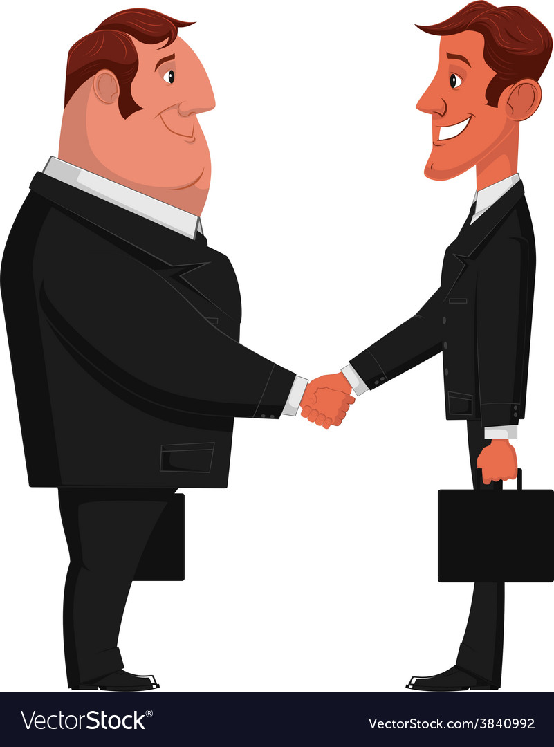 Dvy businessman vector | Price: 1 Credit (USD $1)