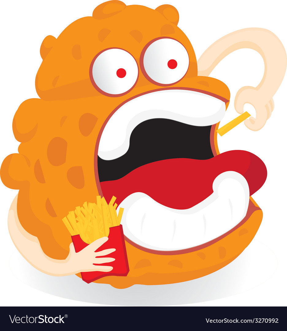 Germ monster cartoon vector | Price: 1 Credit (USD $1)