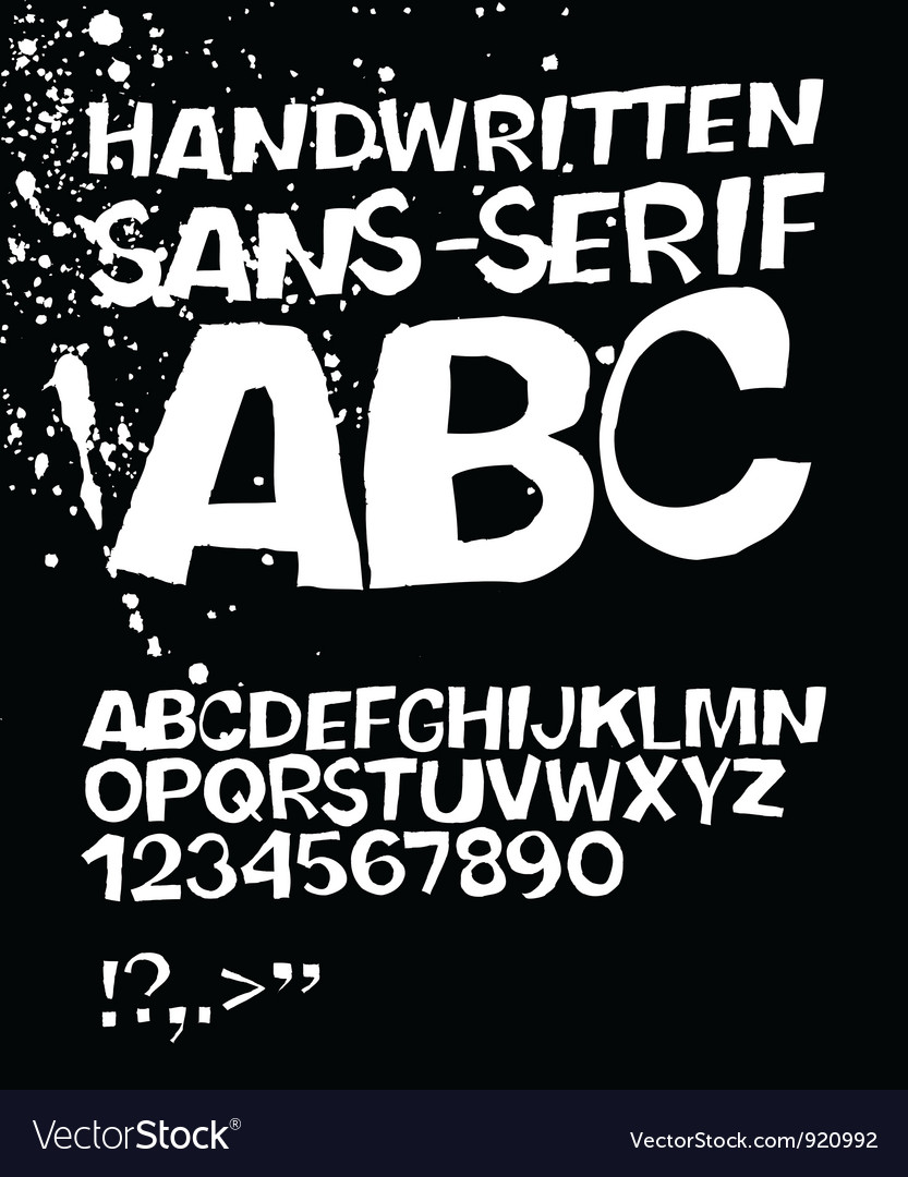 Handwritten abc on black vector | Price: 1 Credit (USD $1)