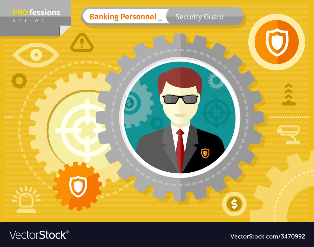 Male security guard profession concept vector | Price: 1 Credit (USD $1)