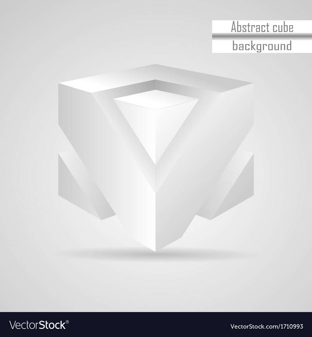 Abstract white 3d cube vector | Price: 1 Credit (USD $1)