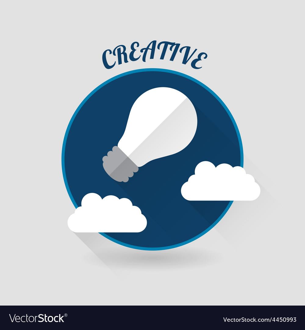 Art launch light bulb creative start conceptflat vector   Price: 1 Credit (USD $1)