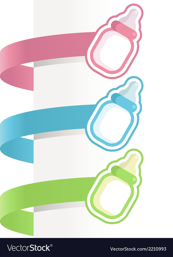 Baby bottle labels vector | Price: 1 Credit (USD $1)