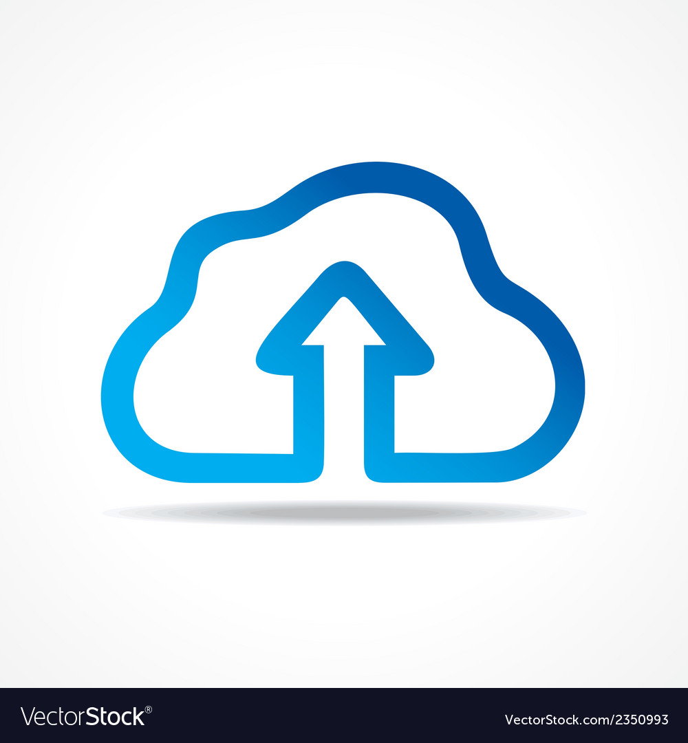 Blue cloud make a business arrow stock vector | Price: 1 Credit (USD $1)
