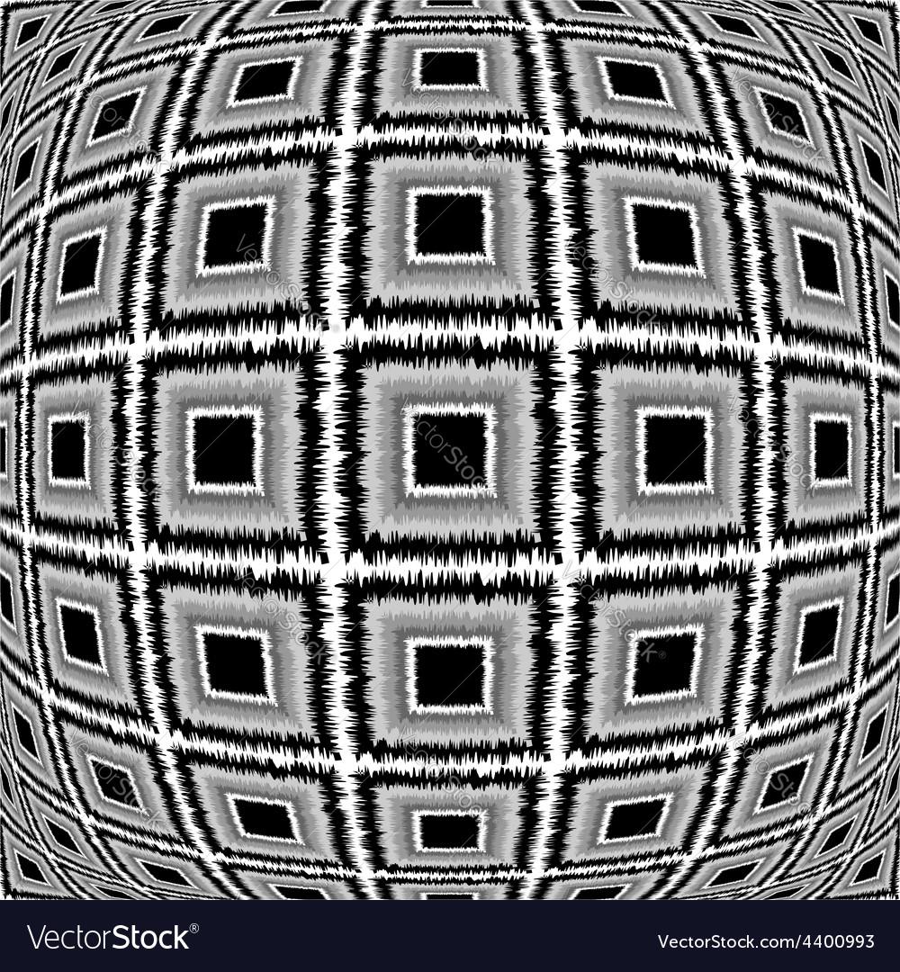 Design warped monochrome checked pattern vector | Price: 1 Credit (USD $1)