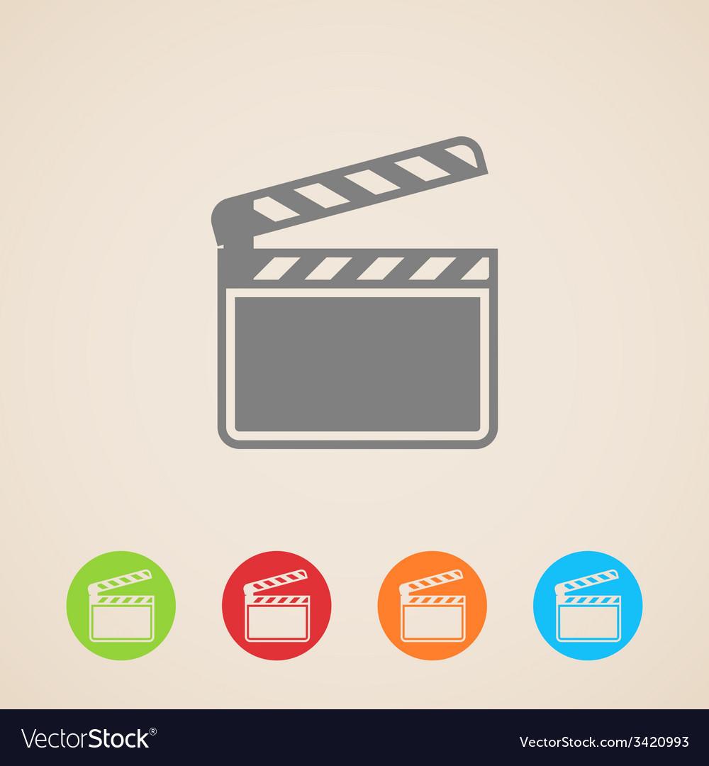Film clap board cinema icons vector | Price: 1 Credit (USD $1)
