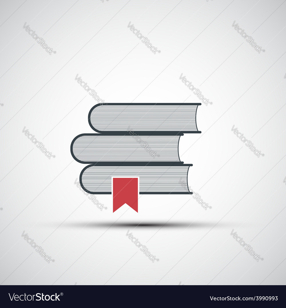Icons stacks of books vector | Price: 1 Credit (USD $1)