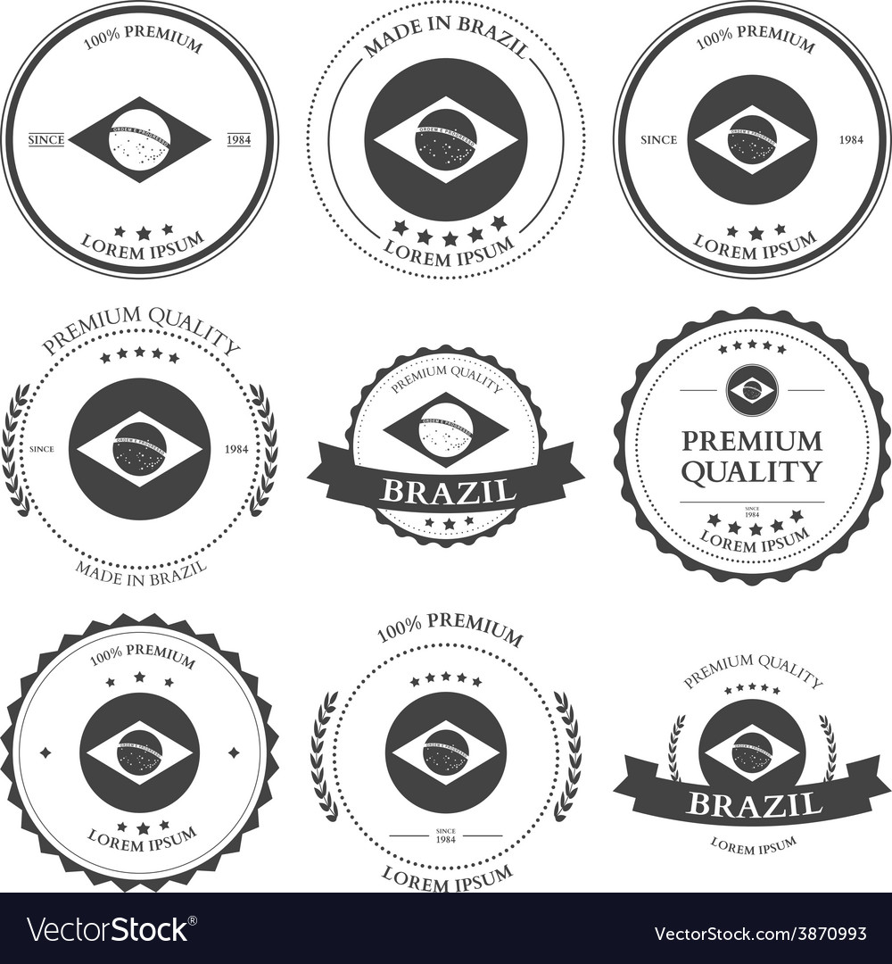 Made in brazil seals badges vector | Price: 1 Credit (USD $1)