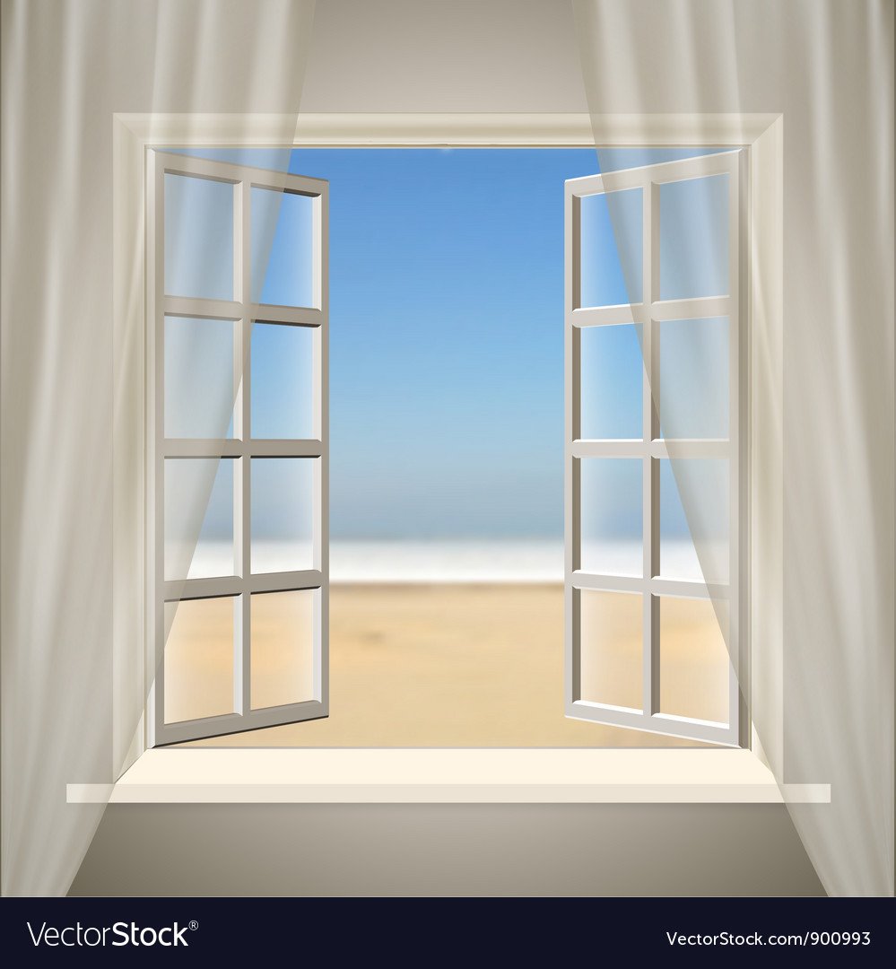 Opening window vector | Price: 1 Credit (USD $1)