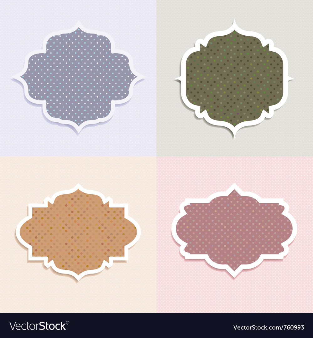 Polka dot themed labels vector | Price: 1 Credit (USD $1)