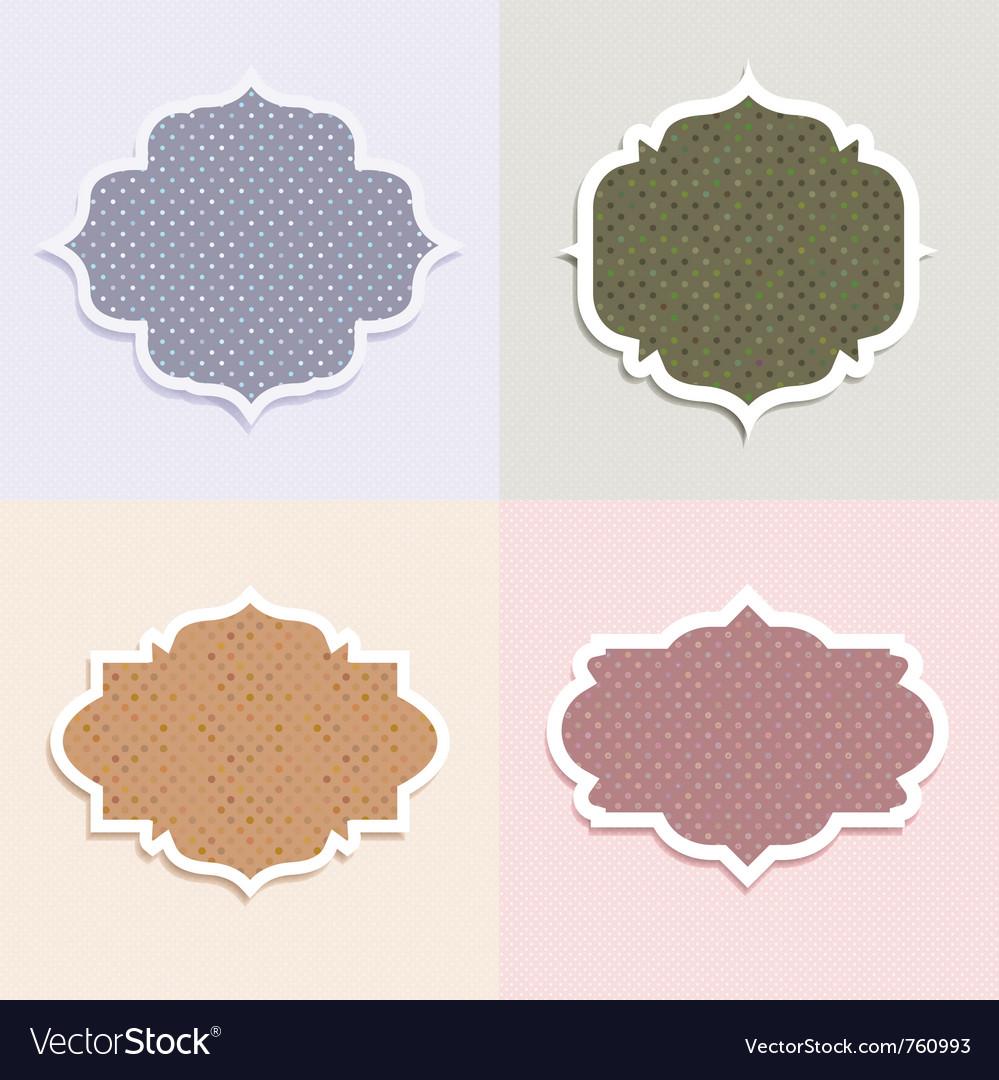 Polka dot themed labels vector | Price: 1 Credit (USD $1)