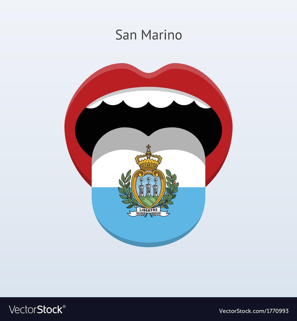 San marino language abstract human tongue vector | Price: 1 Credit (USD $1)