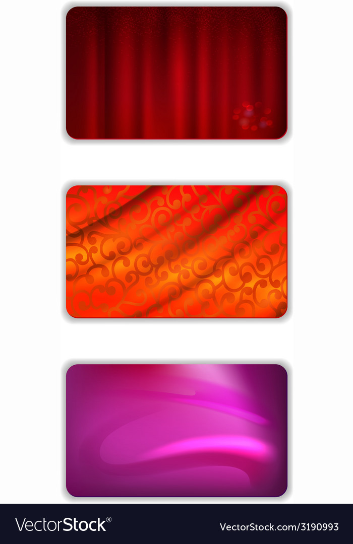 Set abstract red tones drapery background vector | Price: 1 Credit (USD $1)