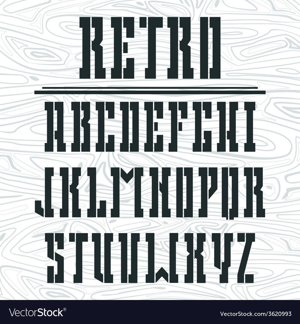 Stencil plate bold serif font vector | Price: 1 Credit (USD $1)