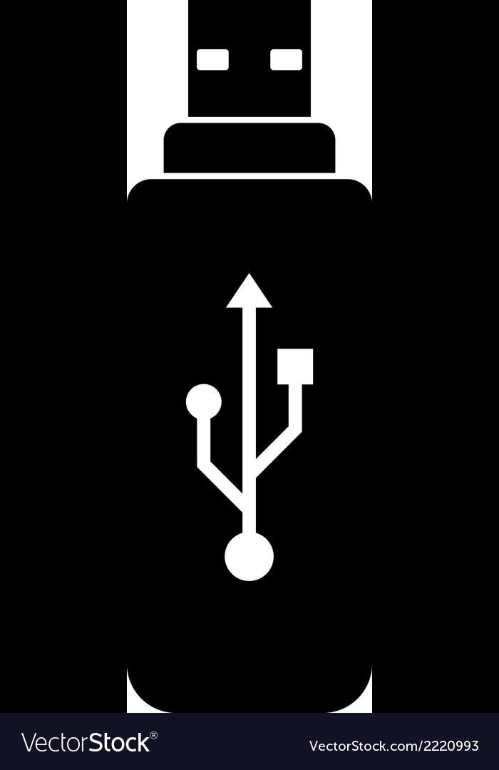 Usb flash icon vector   Price: 1 Credit (USD $1)