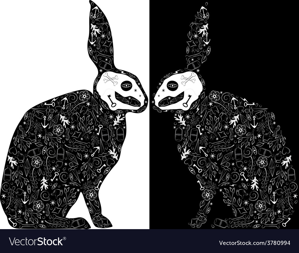 Black rabbits vector | Price: 1 Credit (USD $1)