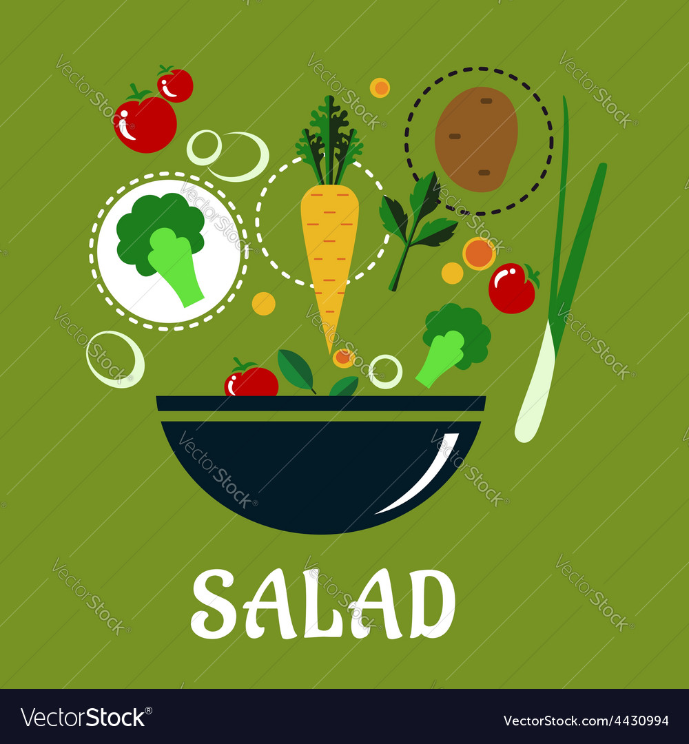 Cooking salad design with vegetables and vector | Price: 1 Credit (USD $1)