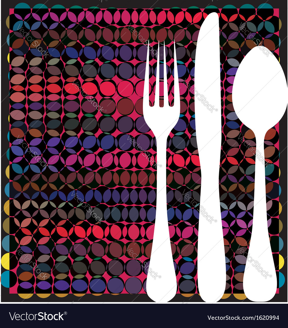 Fork spoon and knife vector | Price: 1 Credit (USD $1)