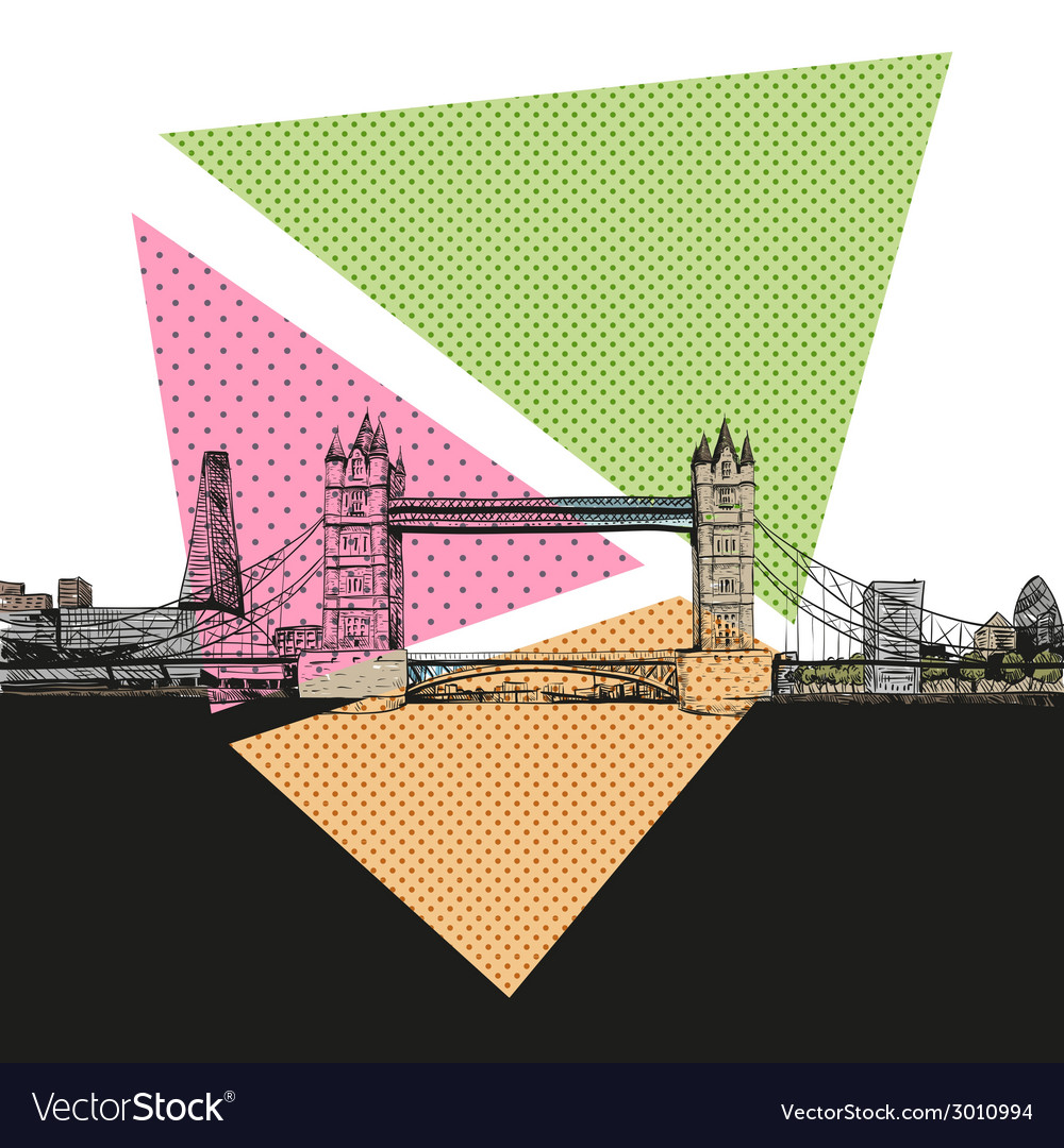 London bridge drawing vector | Price: 1 Credit (USD $1)