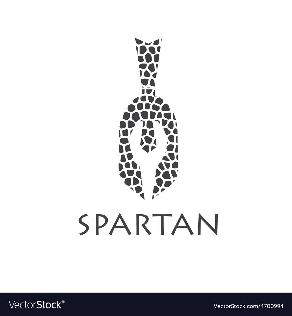 Mosaic vintage antiques spartan warrior design vector | Price: 1 Credit (USD $1)