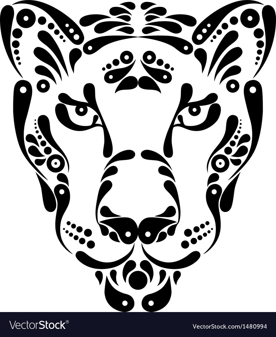 Panther tattoo symbol decoration vector | Price: 1 Credit (USD $1)