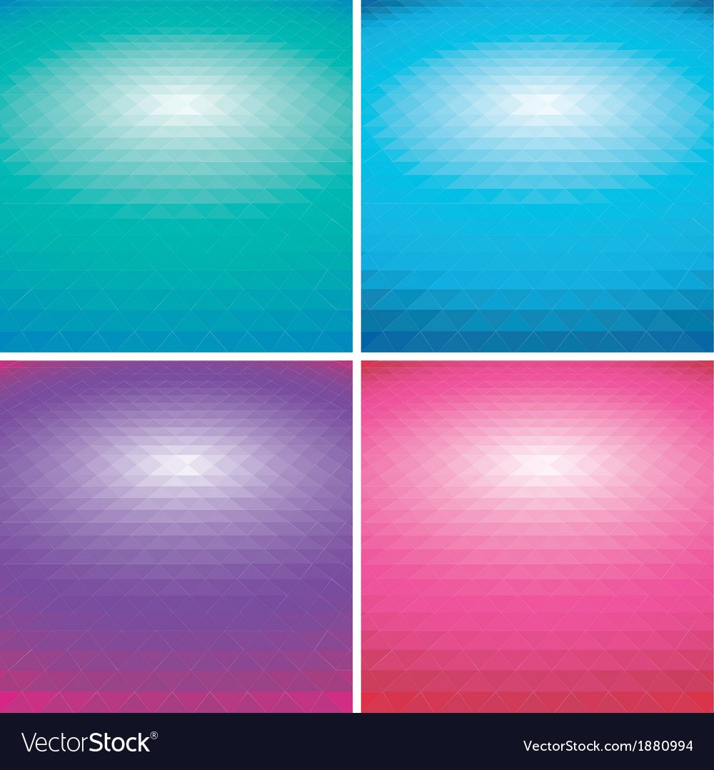 Set of colorful abstract triangle backgrounds vector | Price: 1 Credit (USD $1)