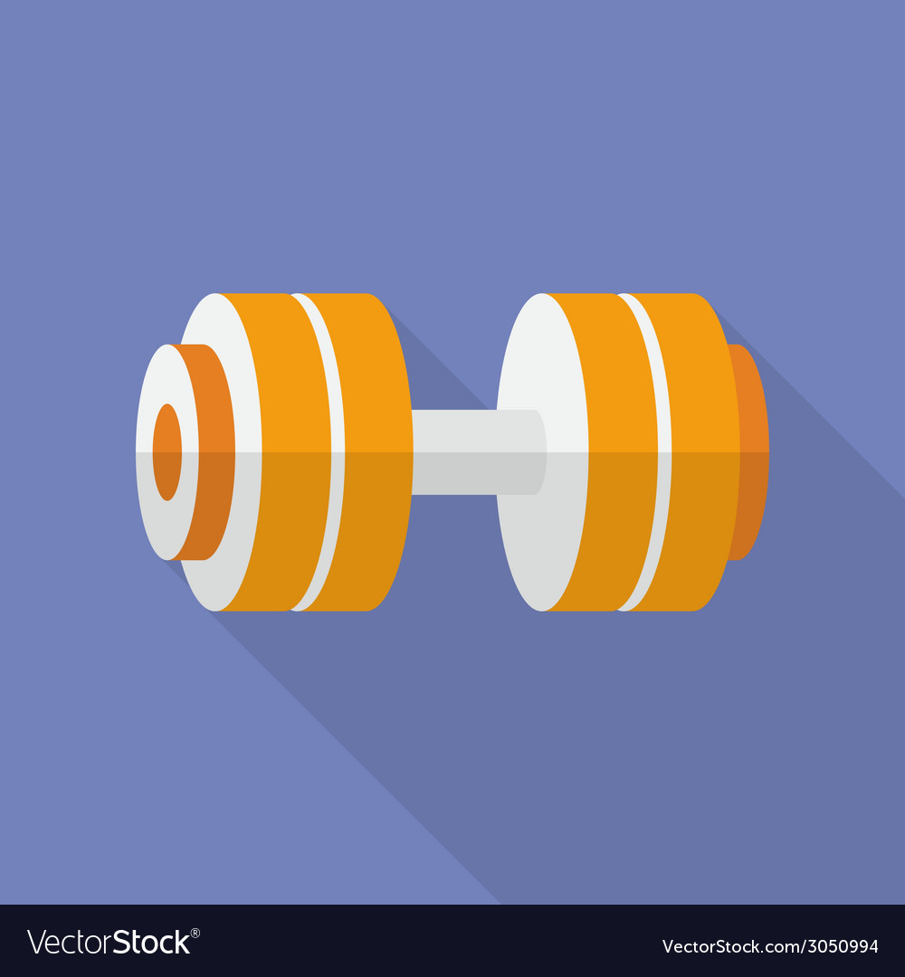 Sport dumbbell icon modern flat style with a long vector | Price: 1 Credit (USD $1)