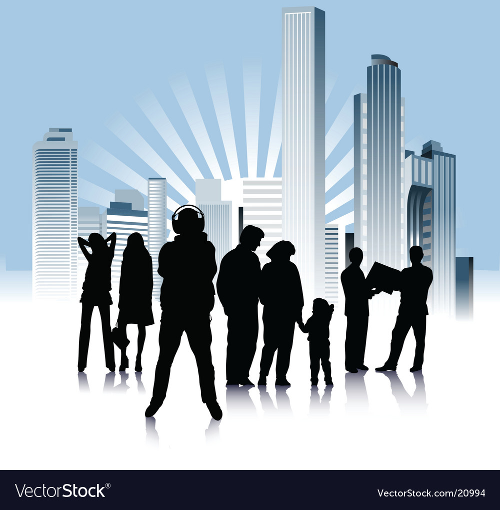 Urban people variation vector | Price: 1 Credit (USD $1)