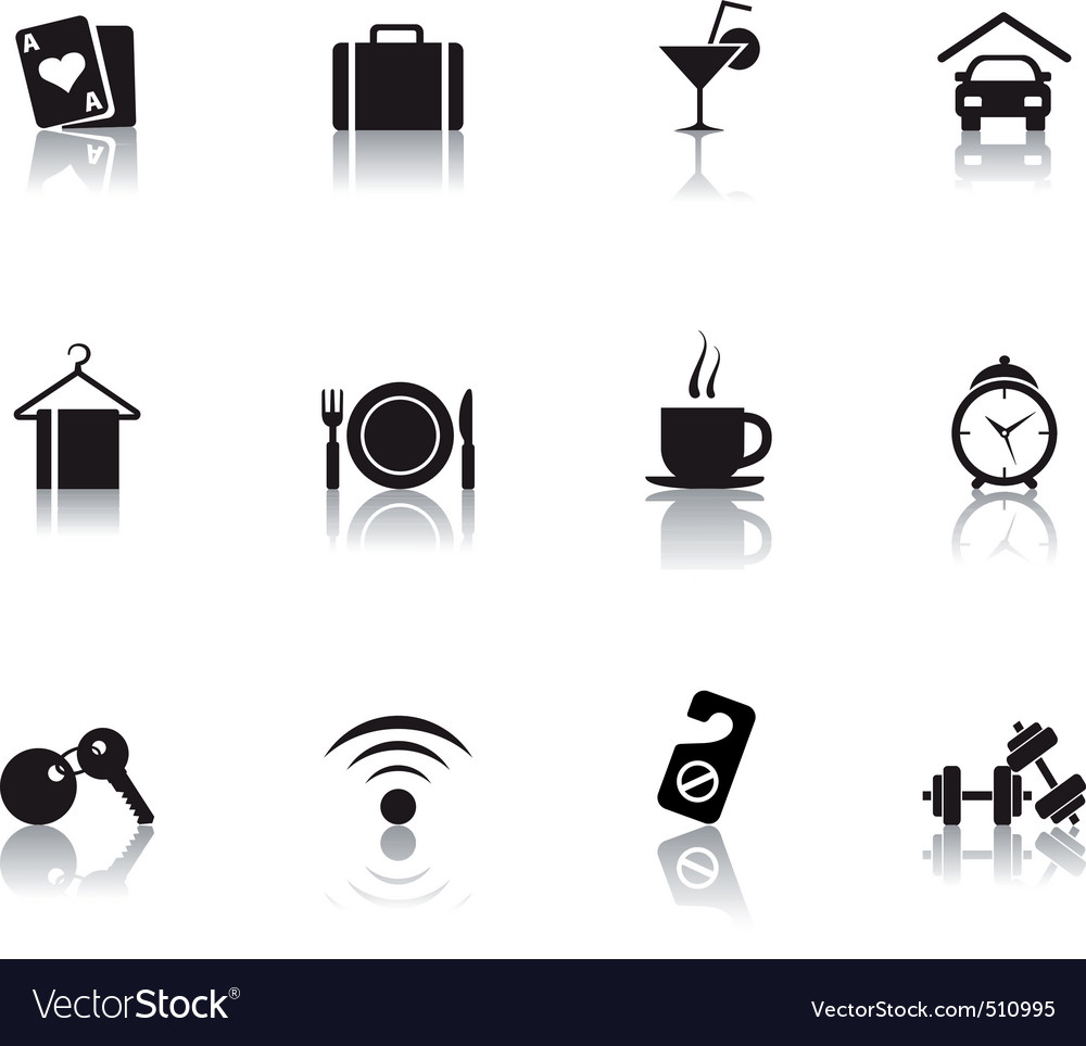 06 hotel icons vector | Price: 1 Credit (USD $1)