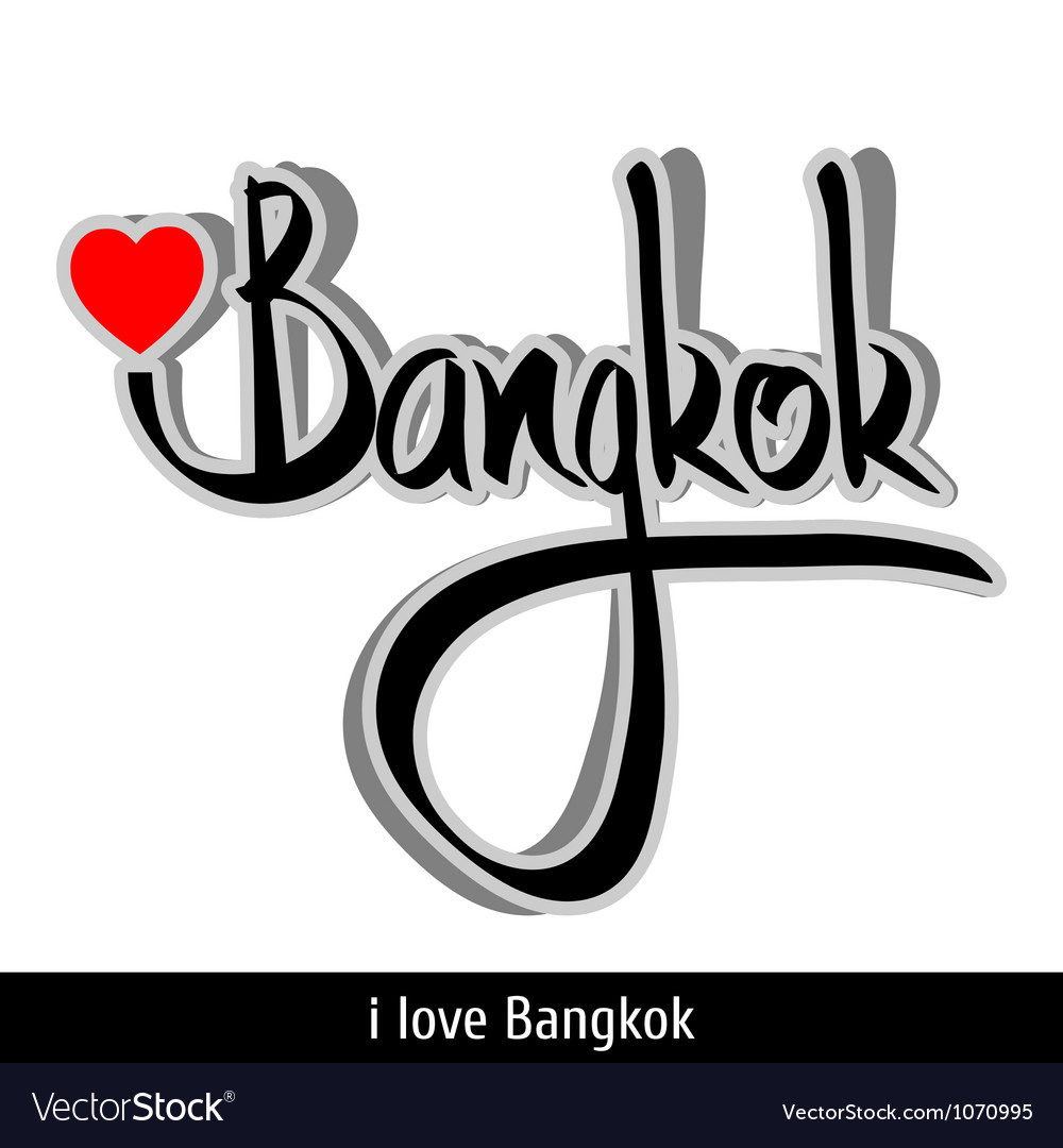 Bangkok greetings hand lettering calligraphy vector | Price: 1 Credit (USD $1)
