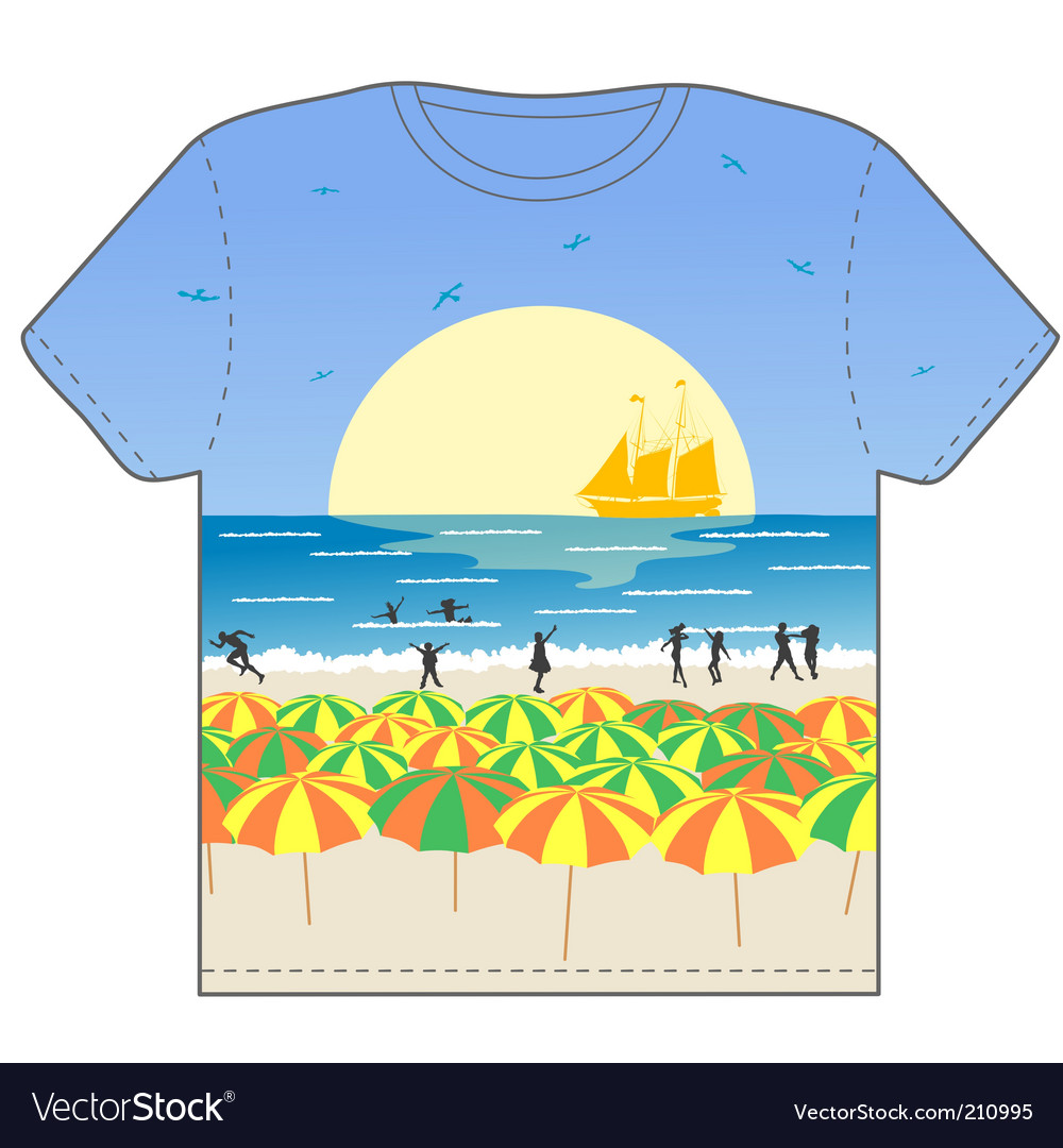 Beach party scene vector | Price: 1 Credit (USD $1)