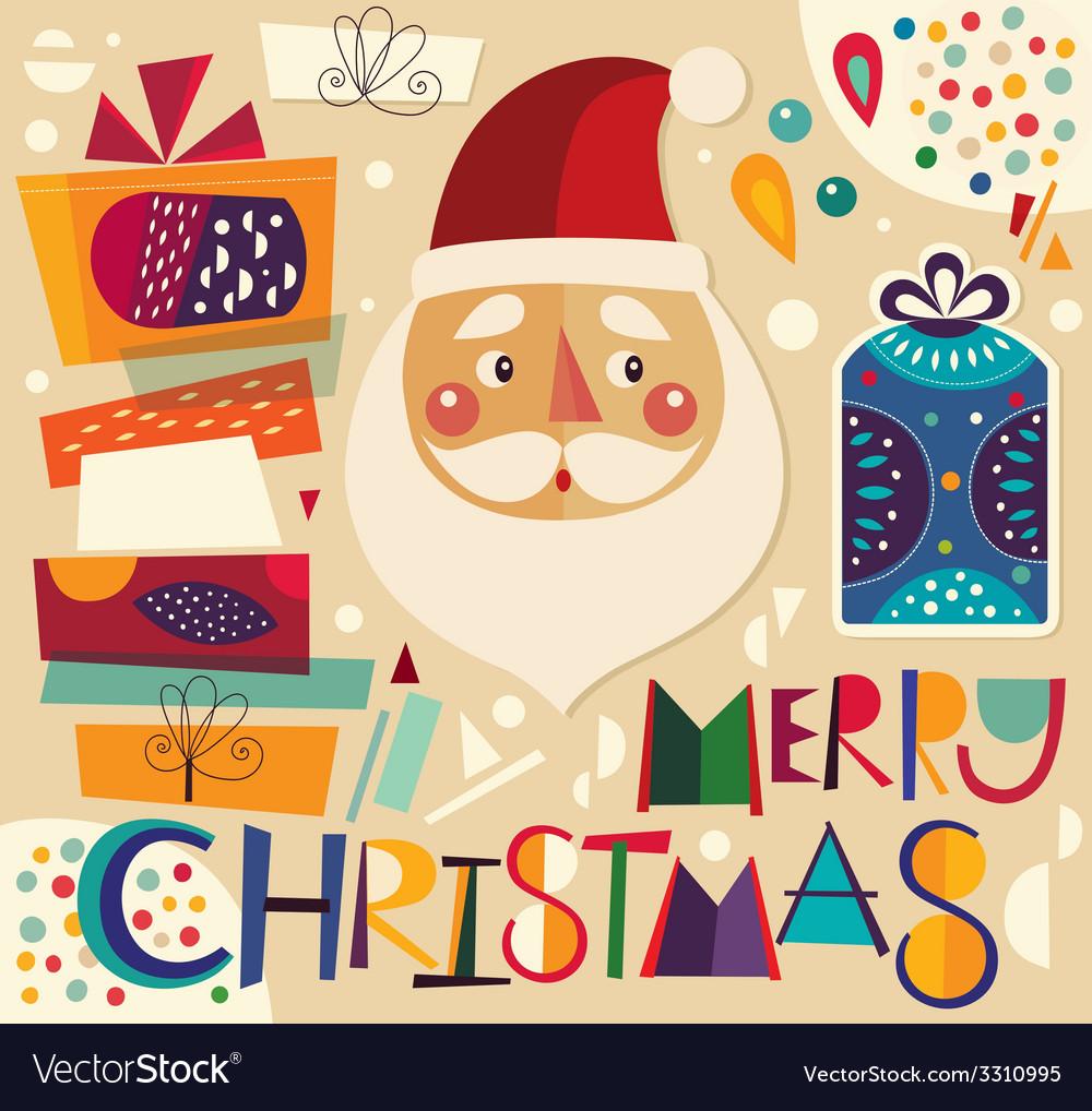 Christmas gifts and santa vector   Price: 1 Credit (USD $1)