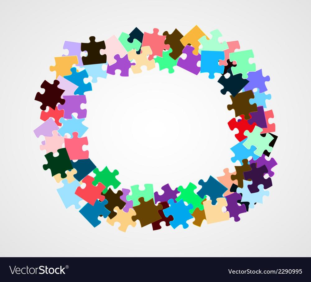 Color puzzle pieces vector | Price: 1 Credit (USD $1)