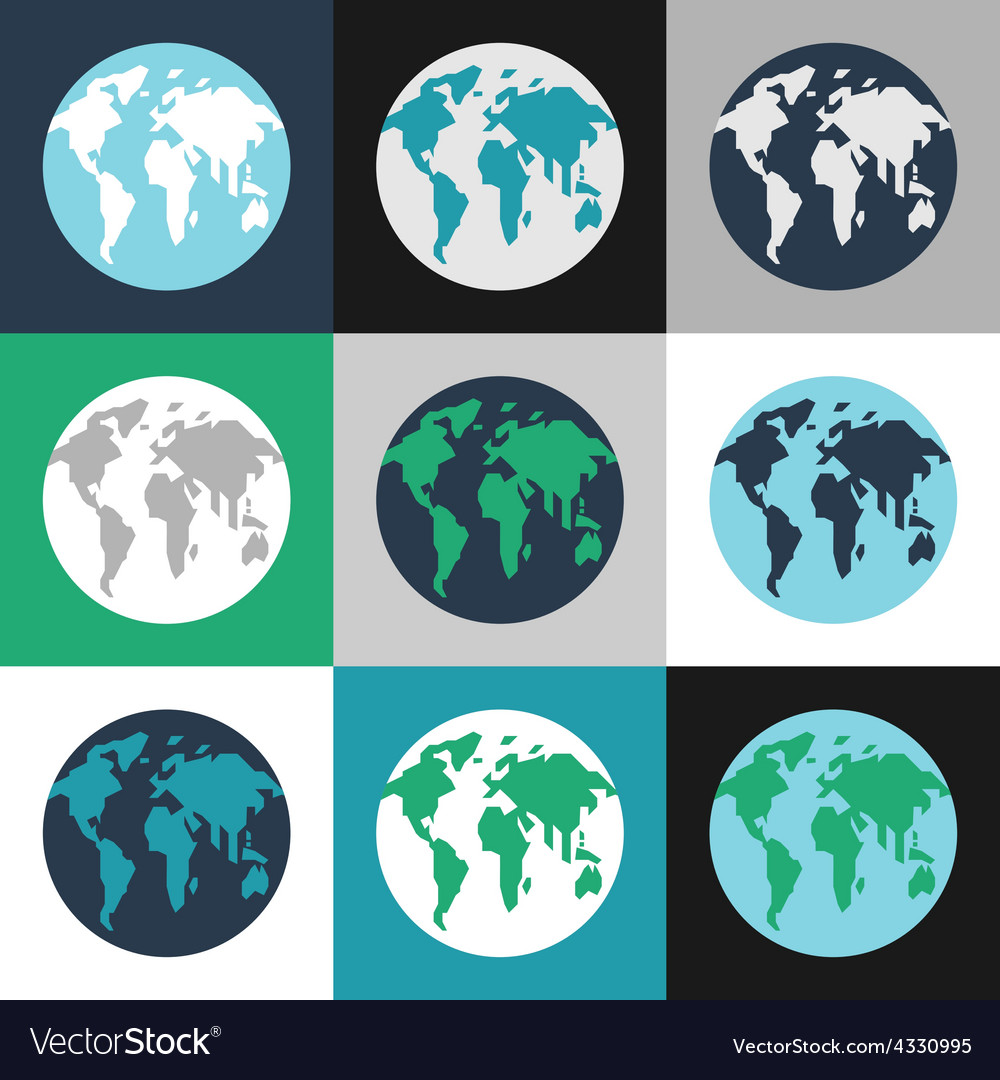 Earth day celebrating card or poster design set of vector | Price: 1 Credit (USD $1)