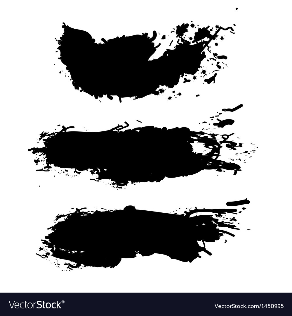 Grunge paint splash vector