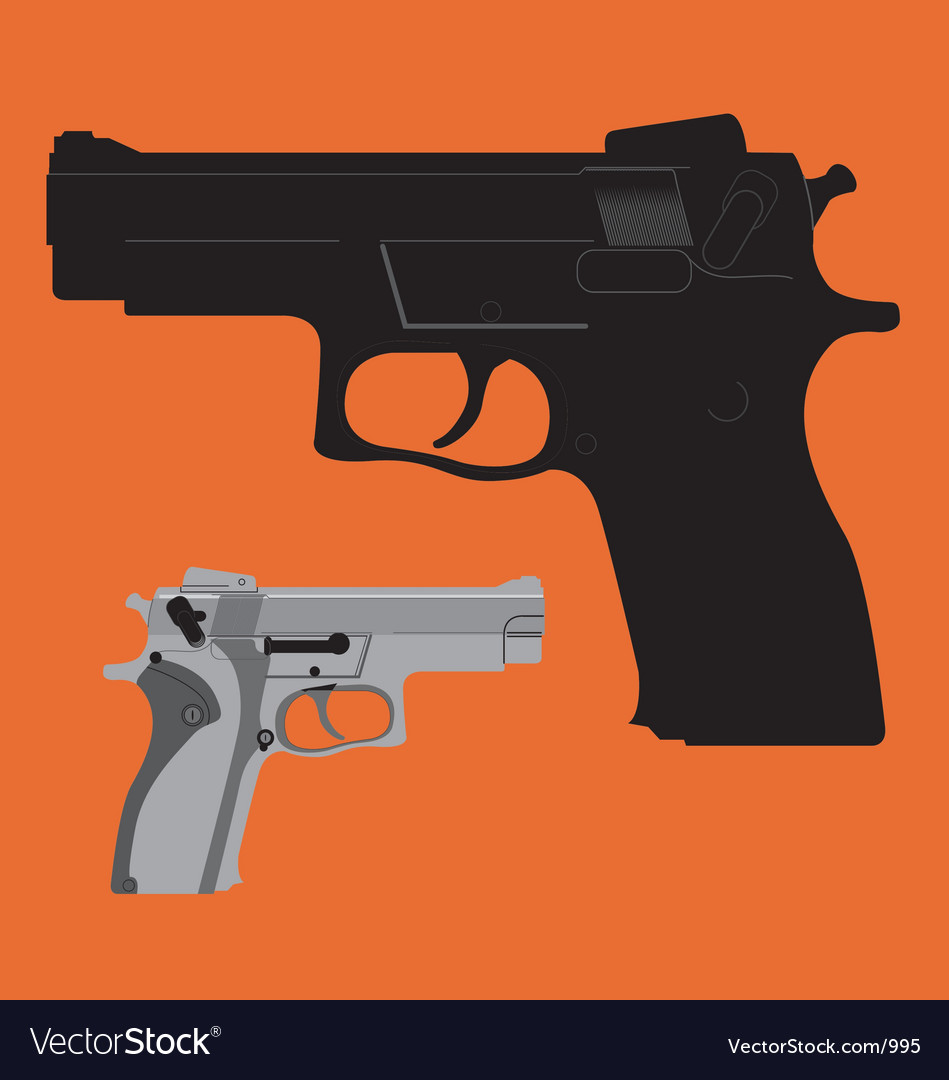Hand gun vector | Price: 1 Credit (USD $1)