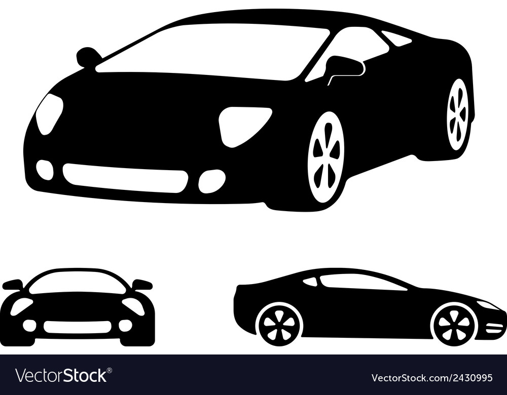 Luxury car silhouettes vector | Price: 1 Credit (USD $1)