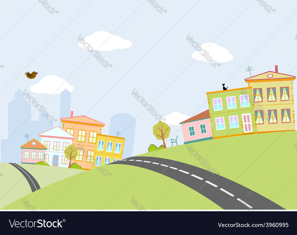 Road in city vector | Price: 1 Credit (USD $1)
