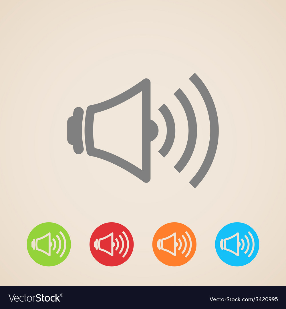 Speaker volume icons vector | Price: 1 Credit (USD $1)