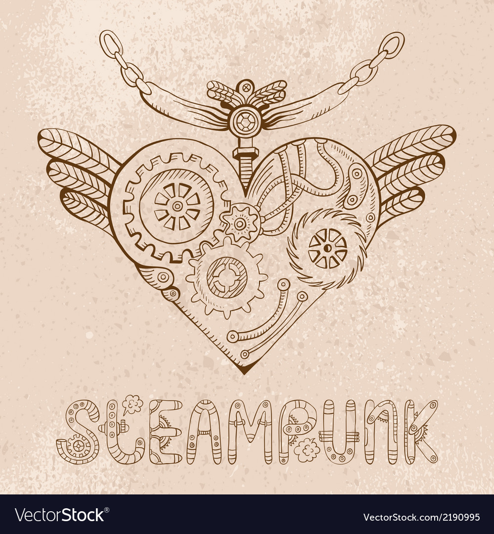 Steampunk heart vector | Price: 1 Credit (USD $1)