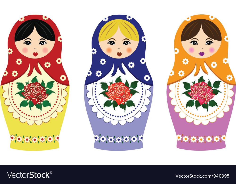 Traditional russian matryoshka vector
