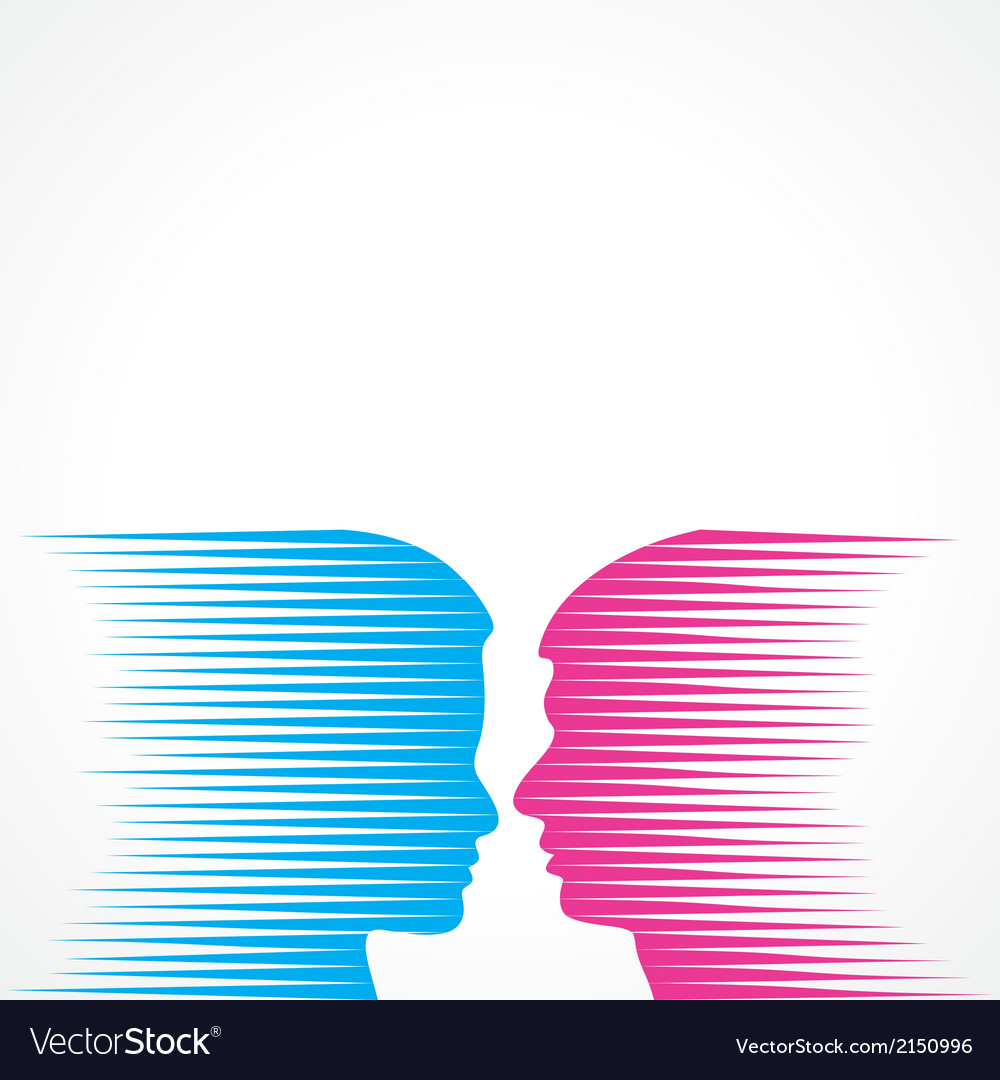 Abstract male and female face vector | Price: 1 Credit (USD $1)