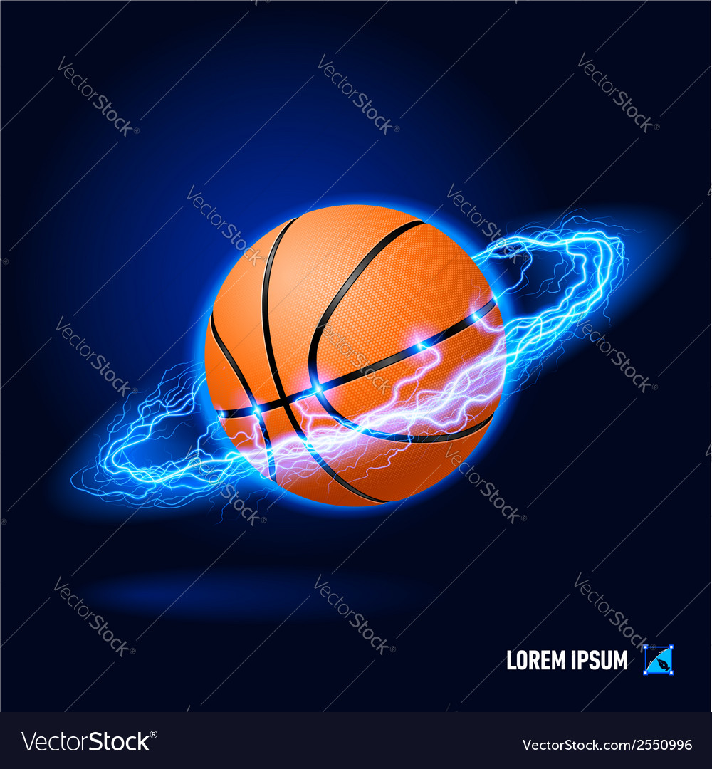 Basketball high voltage vector | Price: 1 Credit (USD $1)