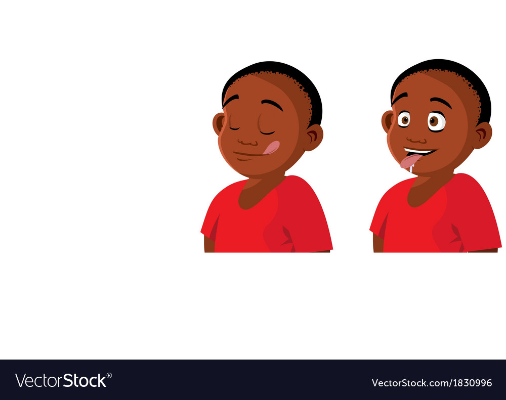 Boy hungry expressions vector | Price: 1 Credit (USD $1)